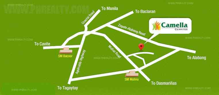 Camella Cerritos Terraces - Location & Vicinity