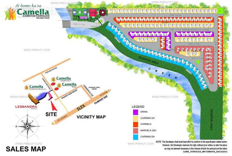 Camella Cerritos Terraces - Site Development Plan