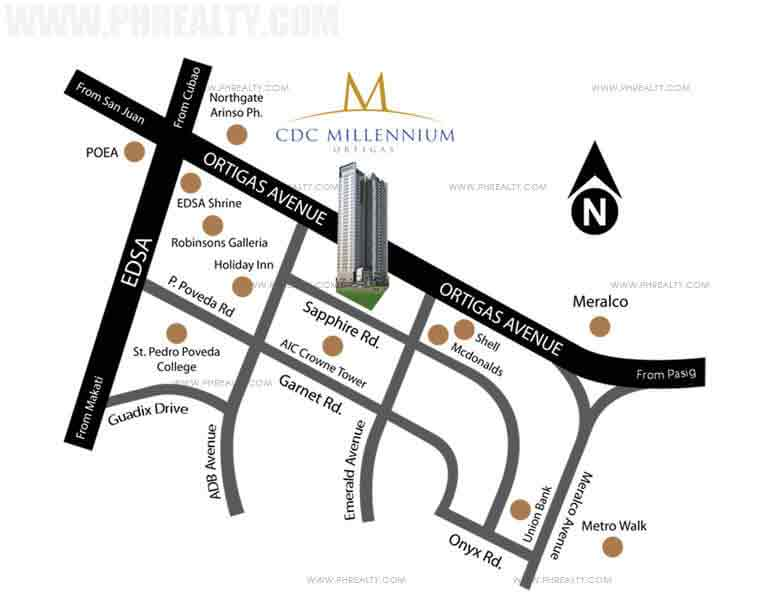 CDC Millennium Ortigas - Location & Vicinity