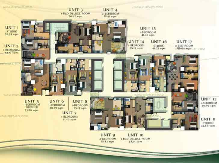 CDC Millennium Ortigas - Typical Floor Plan