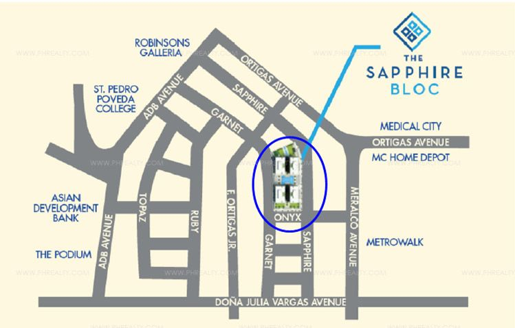 The Sapphire Bloc - Location & Vicinity