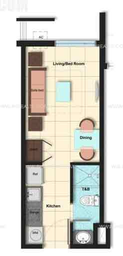 Camella Condo Homes Taft - Unit Plan Studio/Inner Unit