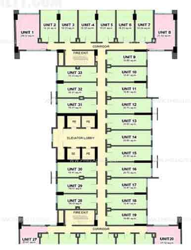 Camella Condo Homes Taft - Building Plans
