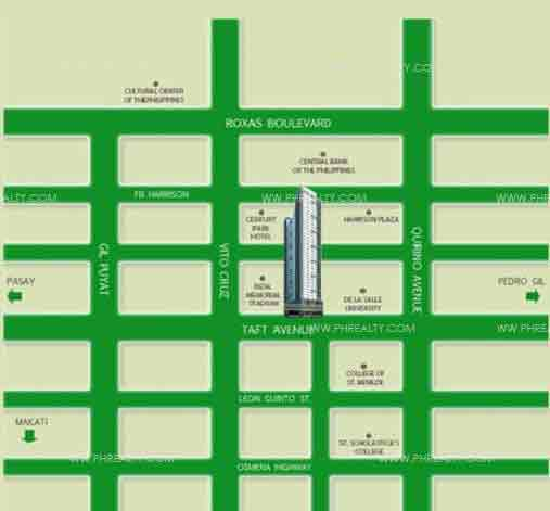 Camella Condo Homes Taft - Location & Vicinity