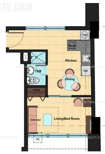 Camella Condo Homes Taft - Unit Plan 1 Bedroom/Corner Unit