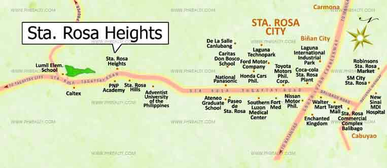 Sta. Rosa Heights  - Location & Vicinity