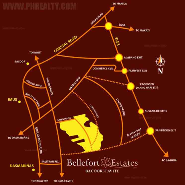 Bellefort Estates - Location & Vicinity