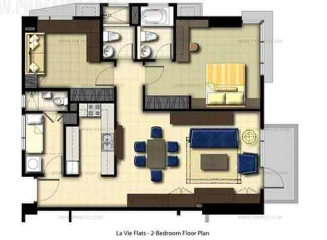La Vie Flats - 2 Bedroom Unit