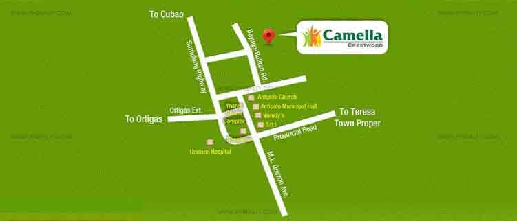 Camella Crestwood - Location Map