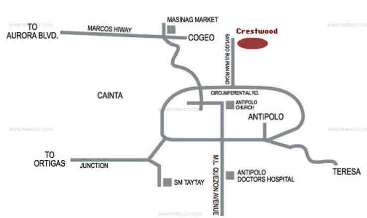 Camella Crestwood - Vicinity Map