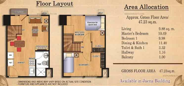 Ilustrata Residences - Bi-Leval Type 1