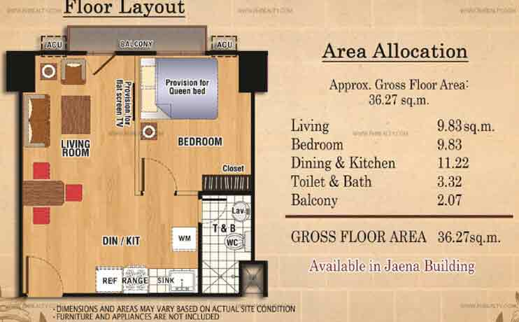 Ilustrata Residences - One Bedroom with Balcony