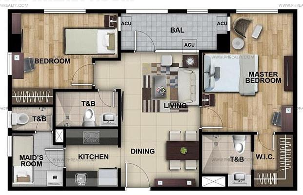Lafayette Park Square - 2 Bedroom