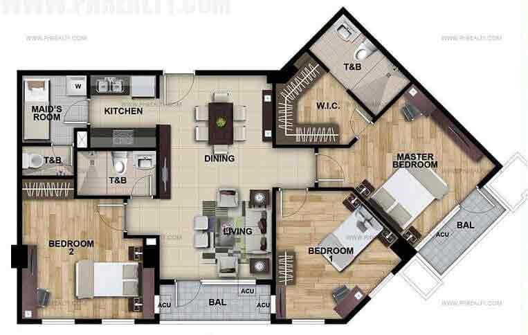 Lafayette Park Square - 3 Bedroom