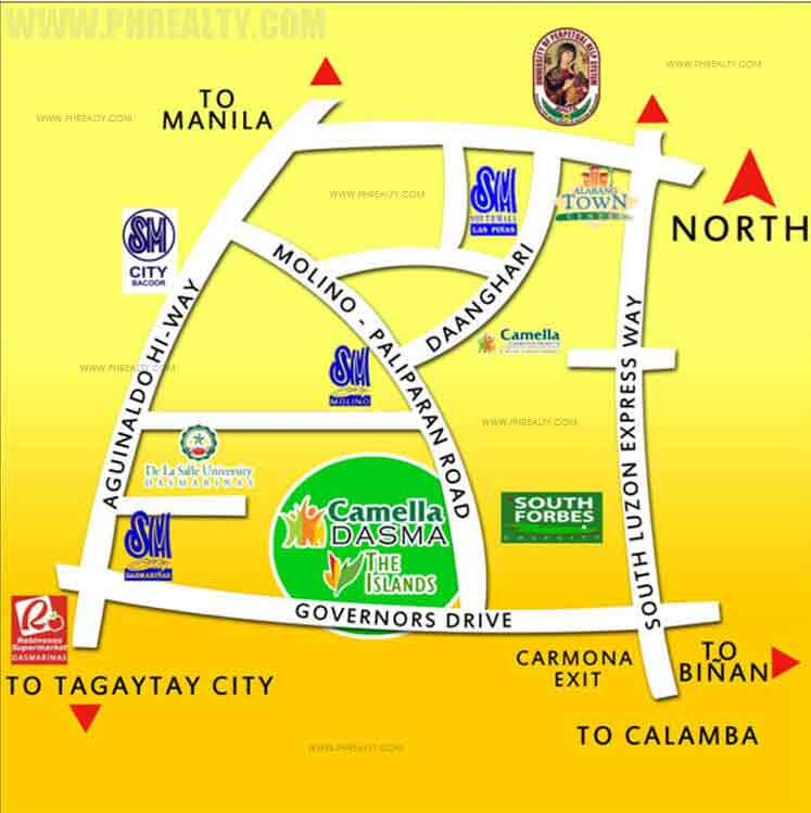 Camella Dasma at the Islands - Location & Vicinity