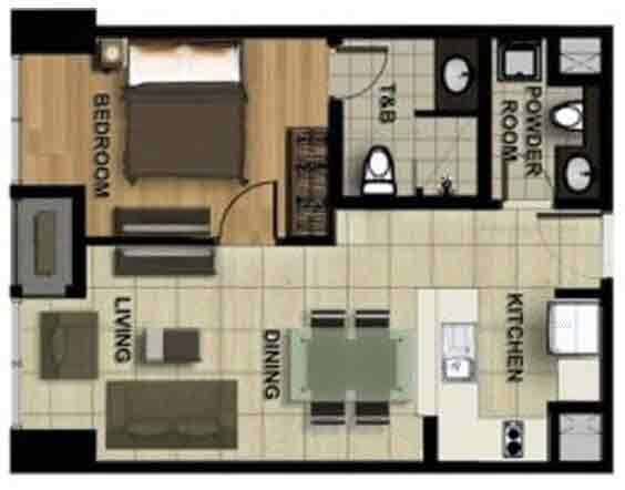 Sonata Premiere Residences - 1 Bedroom a Approx Size 42 to 67 sqm