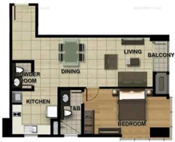 Sonata Premiere Residences - 1bedroom b Approx Size 42 to 67 sqm