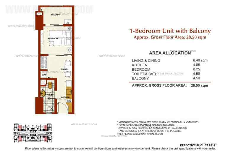 Brio Tower - 1 Bedroom Unit With Balcony