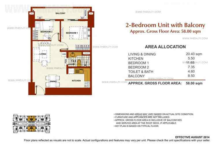 Brio Tower - 2 Bedroom Unit With Balcony