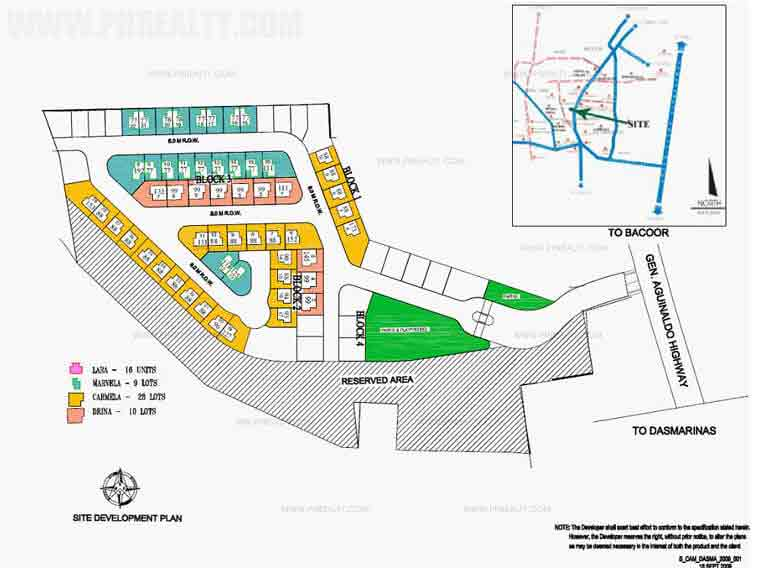 Camella Dasmarinas - Site Development Plan