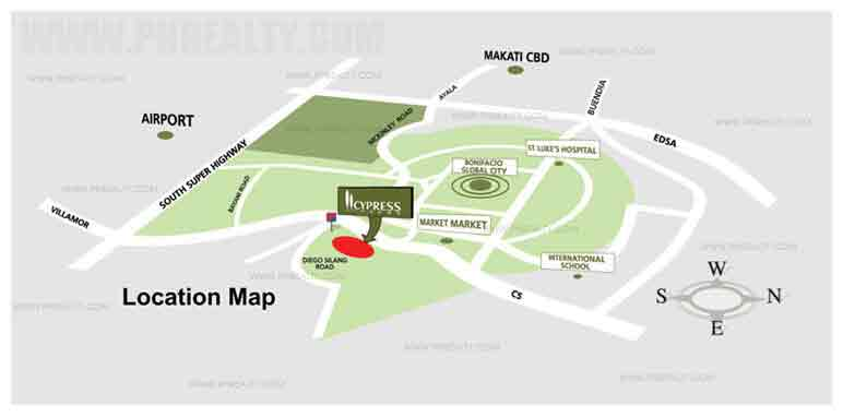 Cypress Towers - Location & Vicinity