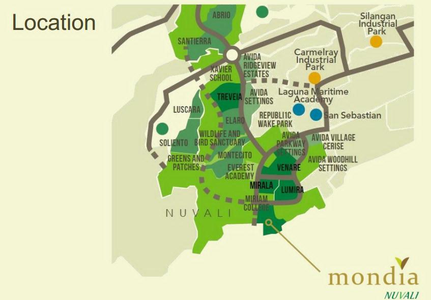 Mondia NUVALI Preselling Lot Only For Sale In Calamba Laguna - Calamba city map