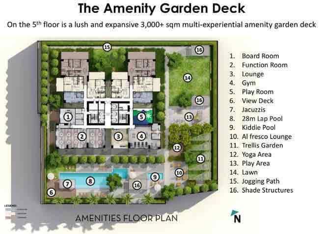 Park Triangle Residences - Garden Deck