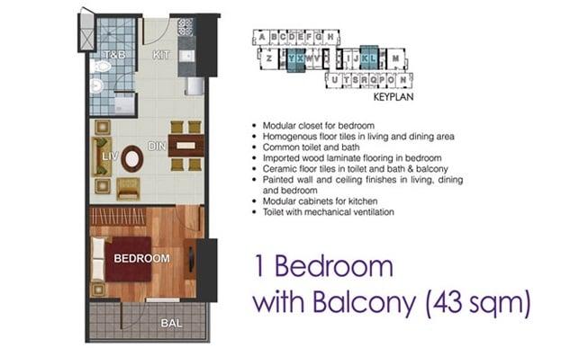 Dream Tower - 1 Bedroom