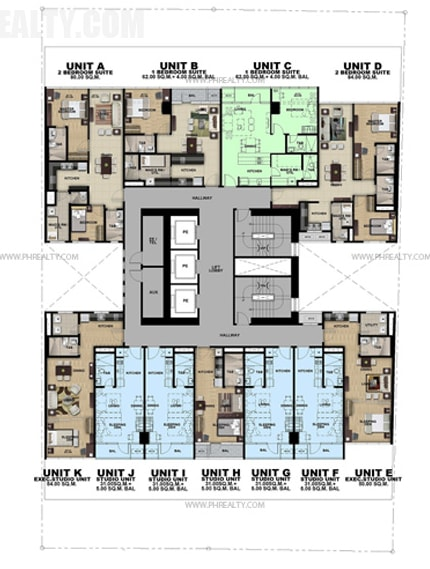 Salcedo Sky Suites - Typical Floor Plan