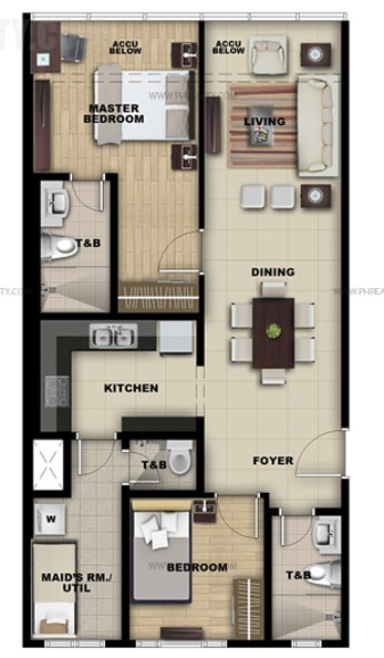 Salcedo Sky Suites - 2 Bedroom Suite