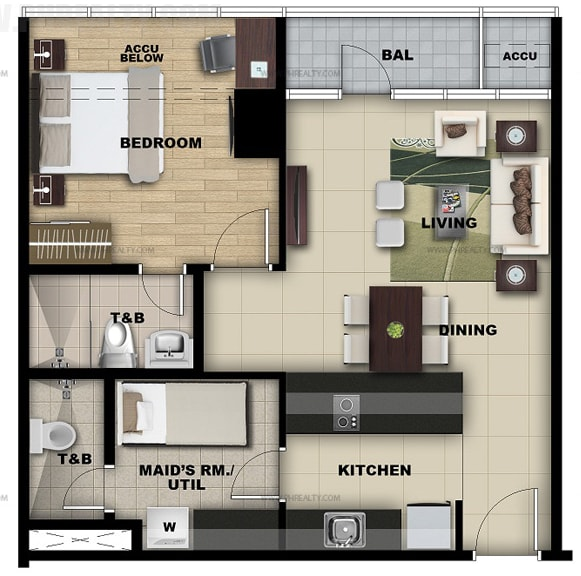 Salcedo Sky Suites - 1 Bedroom