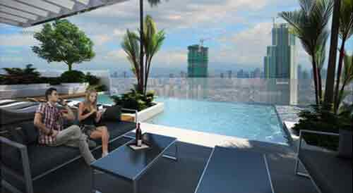 Salcedo Sky Suites - Covered Pool Lounge