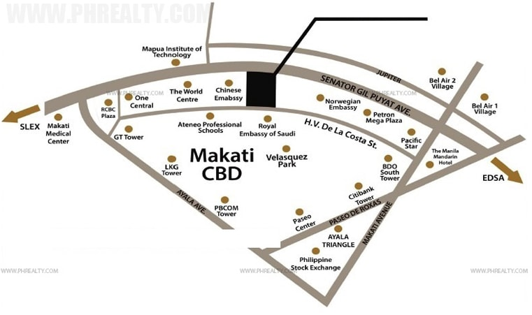 Salcedo Sky Suites - Location and Vicinity
