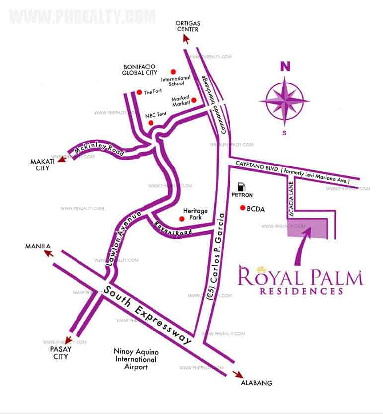 Royal Palm Residences - Location & Vicinity