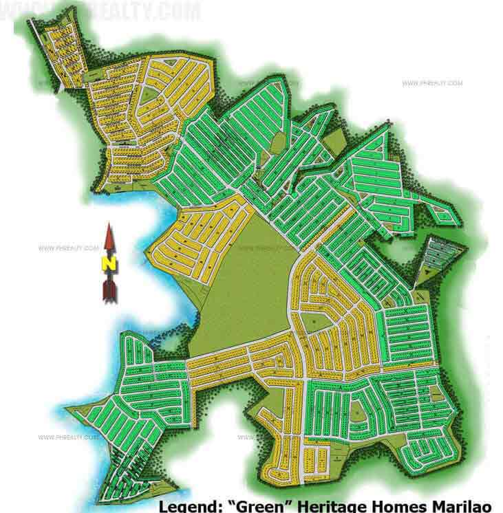 Heritage Homes Marilao Preselling House Lot For Sale In - Marilao map