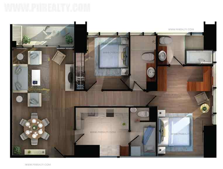 The Capital Towers - 2 BR Corner Type B