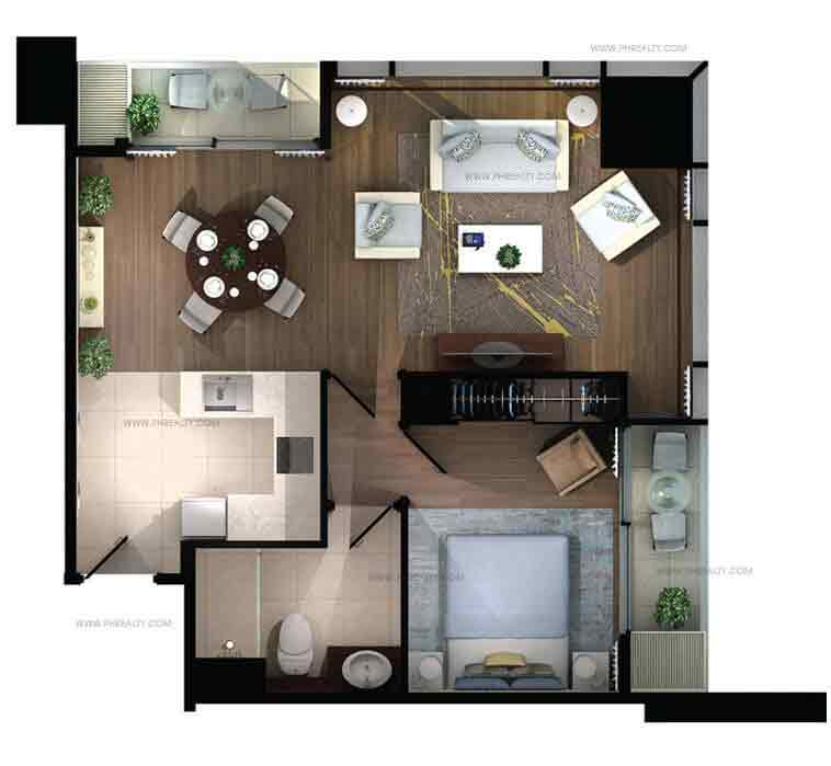 The Capital Towers - 1 BR Type C