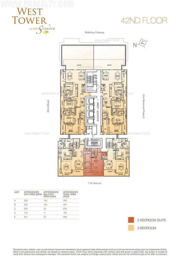 West Tower - 42nd Floor Plan