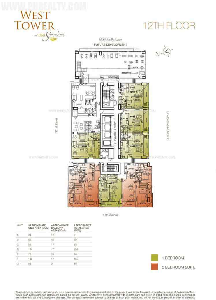 West Tower - 12th Floor Plan