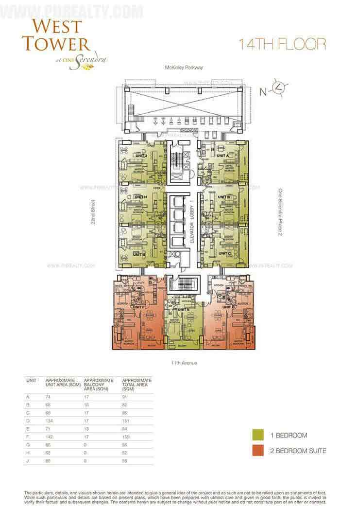 West Tower - 14th Floor Plan