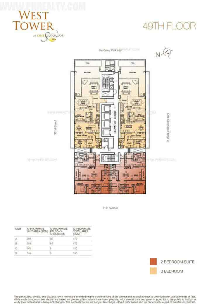 West tower preselling condominium for sale in taguig for Real estate floor plan pricing