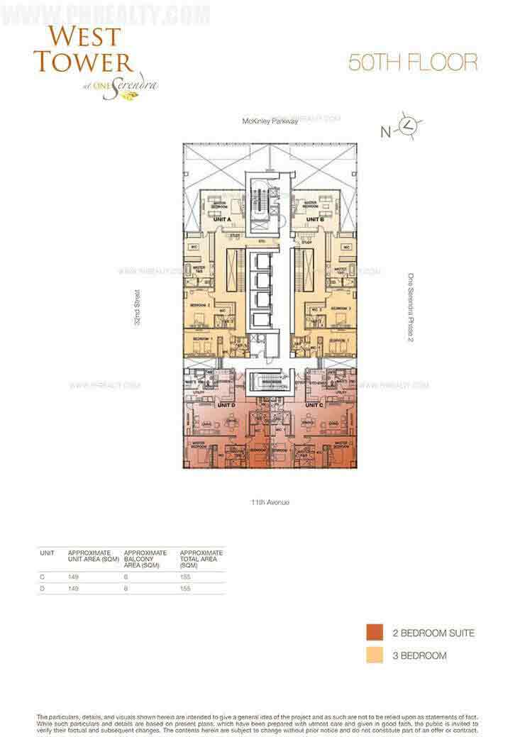 West Tower - 50th Floor Plan