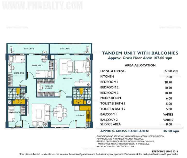 Asteria Residences - Tandem Unit With Balconies