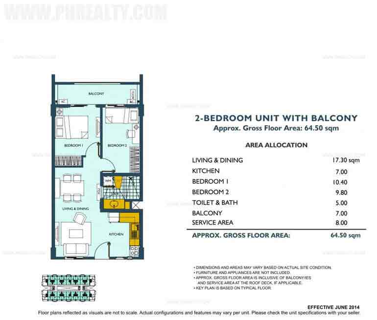 Asteria Residences - 2 Bedroom Unit With Balcony