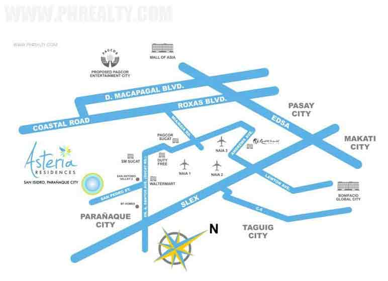 Asteria Residences - Location & Vicinity