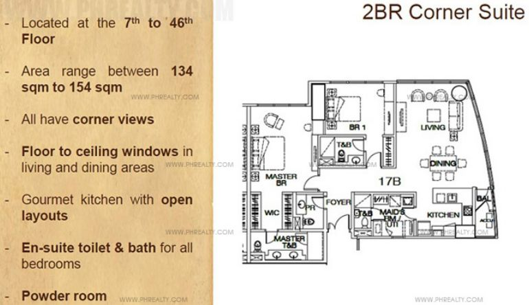 The Suites - 2-BR Units Layout