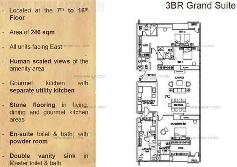 The Suites - 3-BR Units Layout