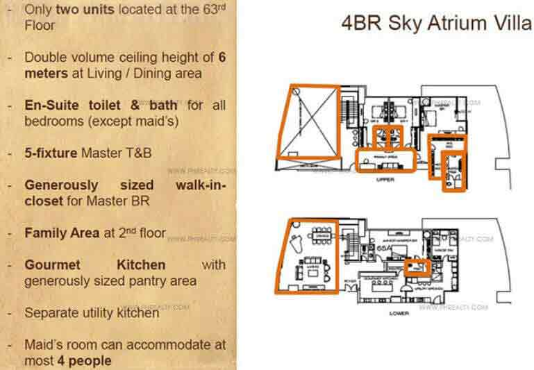 The Suites - 4-BR Units Layout