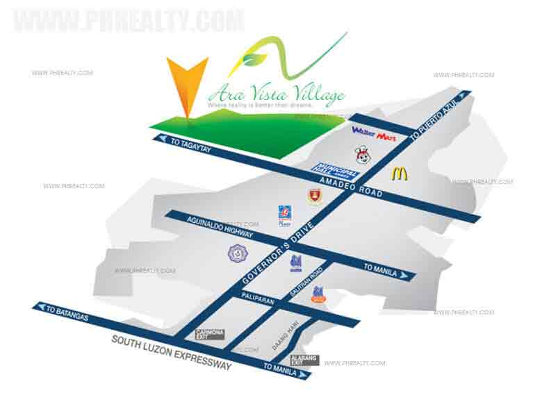 Winter Breeze Homes Cavite - Location & Vicinity