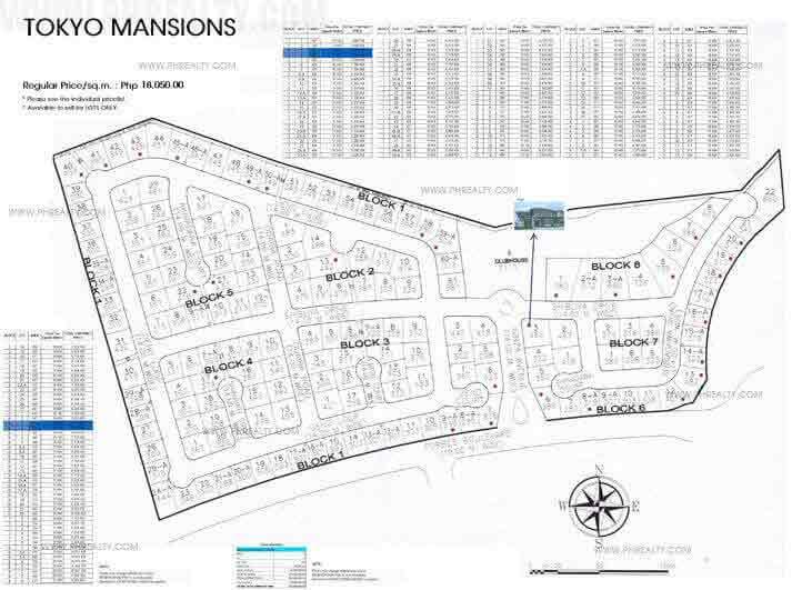 Tokyo Mansions - Site Development Plan